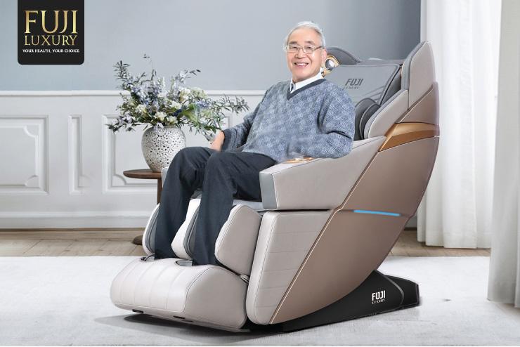 Ghế massage Fuji Luxury là bạn đồng hành chăm sóc sức khỏe của cả gia đình