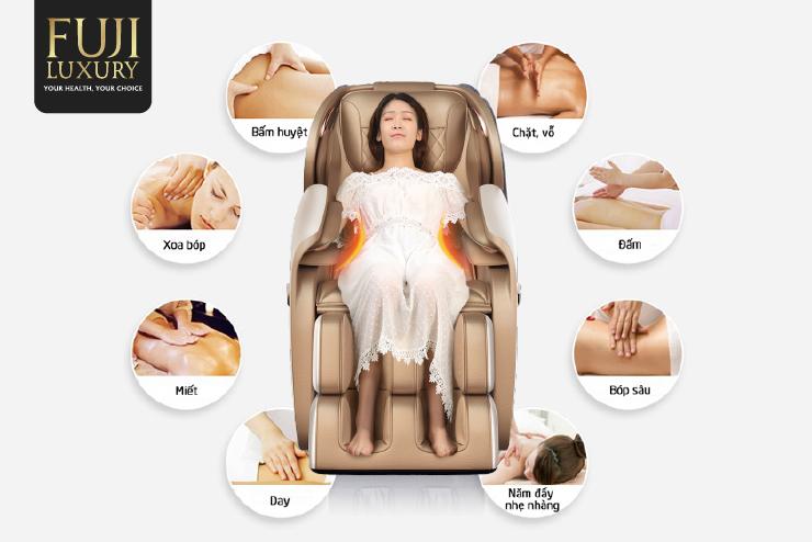 Đa dạng các bài tập mô phỏng theo bàn tay người khi massage