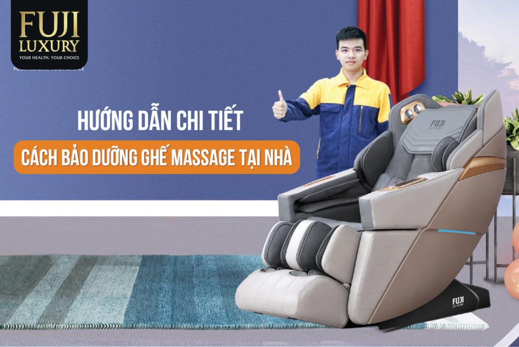 cách Bảo Dưỡng ghế massage tại nhà